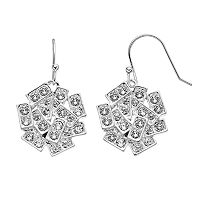 Simply Vera Vera Wang Rectangle Drop Earrings with Swarovski Crystals
