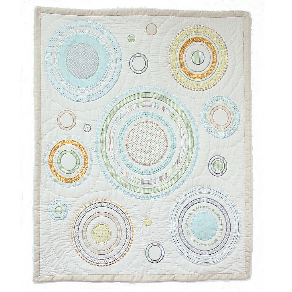 Nurture Heavenly Spheres and Cosmic Dots Baby Quilt
