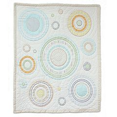 Nurture Heavenly Spheres and Cosmic Dots Baby Quilt by