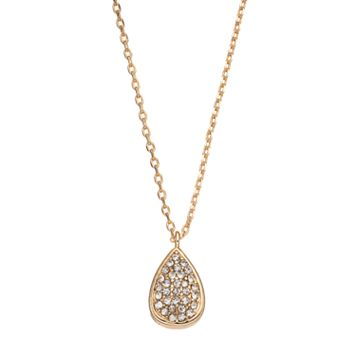 LC Lauren Conrad Pave Teardrop Pendant Necklace
