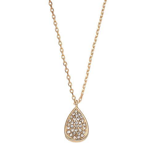 LC Lauren Conrad Pave Teardrop Pendant Necklace