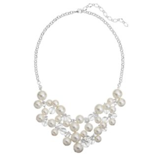 Croft & Barrow® Simulated Pearl Cluster Swag Necklace