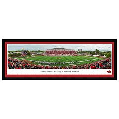 Illinois State Redbirds Football Stadium Framed Wall Art