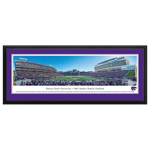 Kansas State Wildcats Football Stadium Framed Wall Art