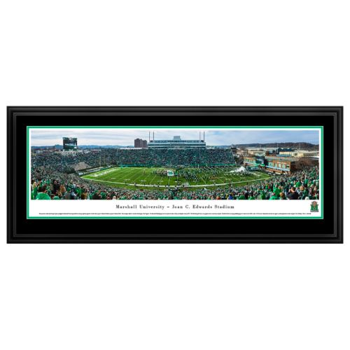 Marshall Thundering Herd Football Stadium Framed Wall Art