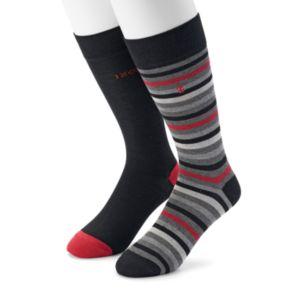 Men's IZOD 2-pack Striped & Solid Dress Socks