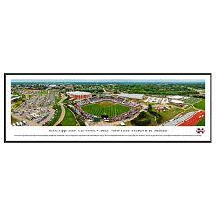 Mississippi State Bulldogs Baseball Stadium Framed Wall Art