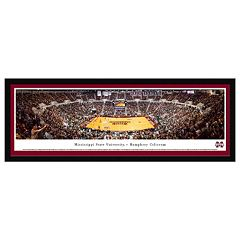 Mississippi State Bulldogs Basketball Arena Framed Wall Art