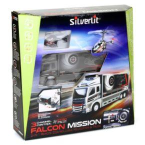 Silverlit Remote Control Falcon Mission Truck & Nano Helicopter Set
