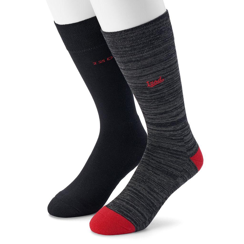 Men's IZOD 2-pack Patterned Crew Socks