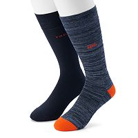 Men's IZOD 2-pack Patterned Crew Socks