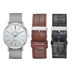 Men's Mesh Watch & Interchangeable Band Set