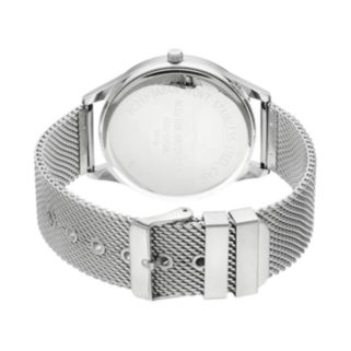 Accutime Men's Mesh Watch & Cross Bracelet Set