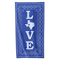 Celebrate Summer Together Texas Love Beach Towel