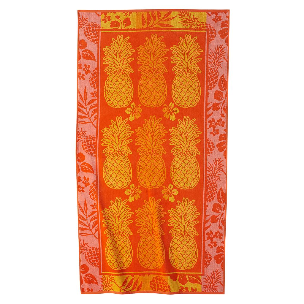 Celebrate Summer Together Pineapple Beach Towel