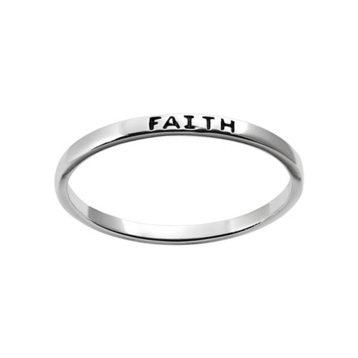 "Itsy Bitsy Sterling Silver ""Faith"" Ring"