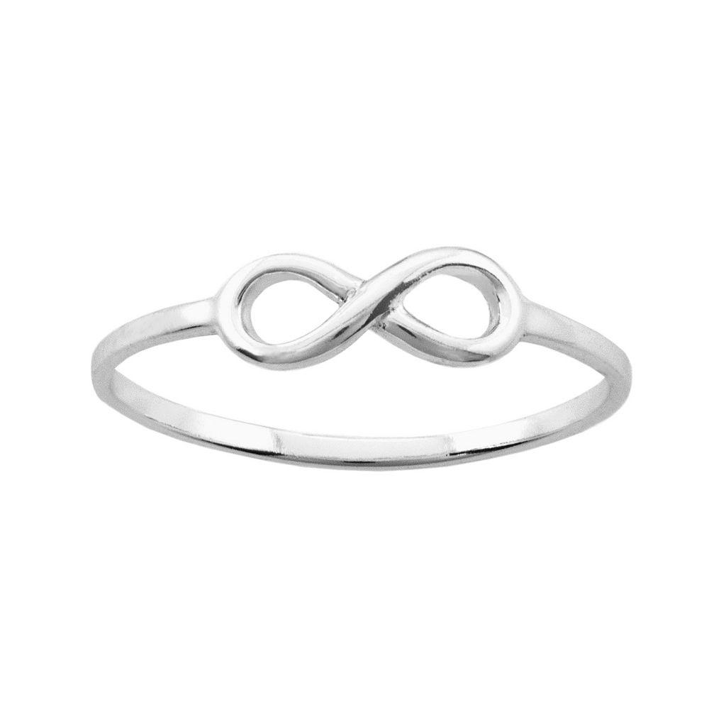 Itsy Bitsy Sterling Silver Infinity Ring
