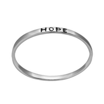 "Itsy Bitsy Sterling Silver ""Hope"" Ring"