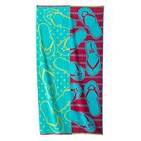 Celebrate Summer Together Flip Flop Beach Towel