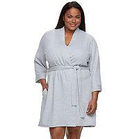 Plus Size Croft & Barrow® Waffle-Knit Kimono Robe