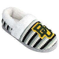 Women's Baylor Bears Striped Sweater Slipers