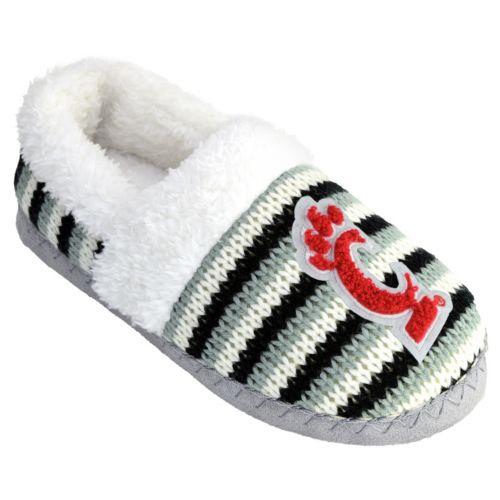 Women's Cincinnati Bearcats Striped Sweater Slipers