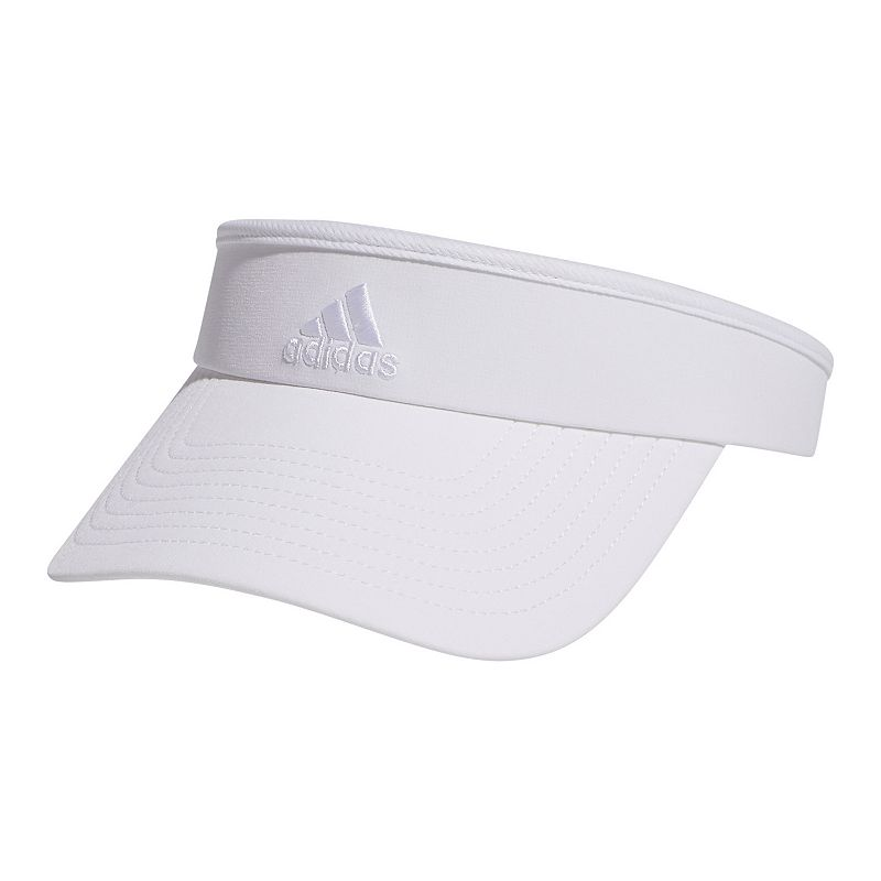 Women's Adidas Match Visor, White Keep your sporty look simple with this women's Adidas visor. Full brim coverage Moisture-wicking climalite sweatband Adidas logo Fabric & Care Polyester, spandex Hand wash Imported Size: One Size. Color: White. Gender: Female. Age Group: Adult.