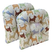 The Gripper Scottie Dog Tufted Chair Pad 2-pk.
