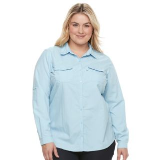 Plus Size Columbia Amberley Stream Button-Down Shirt