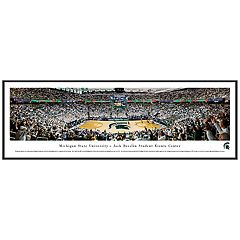 Michigan State Spartans Basketball Arena Framed Wall Art