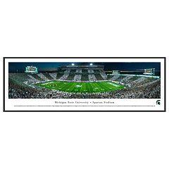 Michigan State Spartans Football Stadium Framed Wall Art