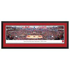 North Carolina State Wolfpack Basketball Arena Framed Wall Art