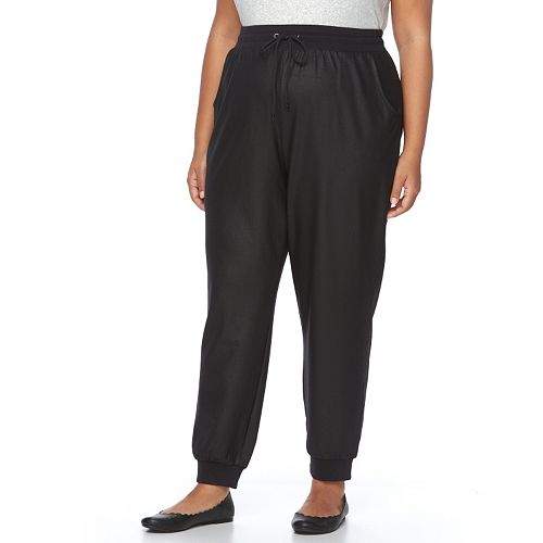 Plus Size French Laundry Solid Jogger Pants