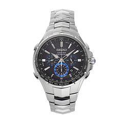 Seiko Men's Coutura Stainless Steel Solar Chronograph Watch - SSG009