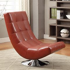 Armen Living Franklin Swivel Club Chair