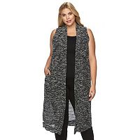 Plus Size French Laundry Boucle Duster Vest