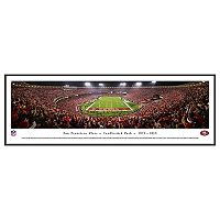 San Francisco 49ers Football Stadium Final Game at Candlestick Framed Wall Art