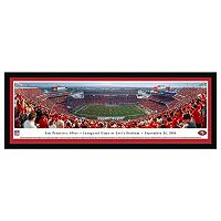 San Francisco 49ers Football Stadium 1st Game at Levi's Stadium Framed Wall Art