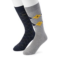 Men's IZOD 2-pack Argyle Crew Socks