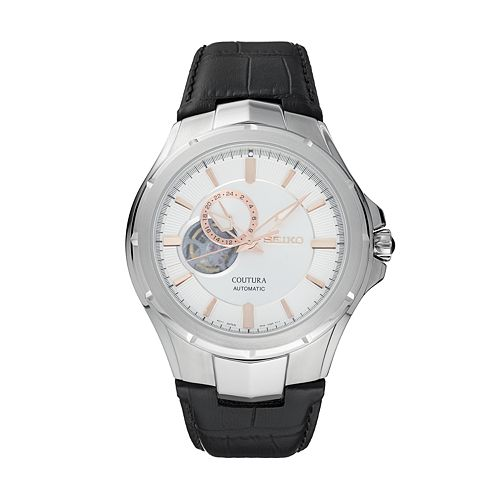 Seiko Men's Coutura Leather Automatic Watch - SSA313