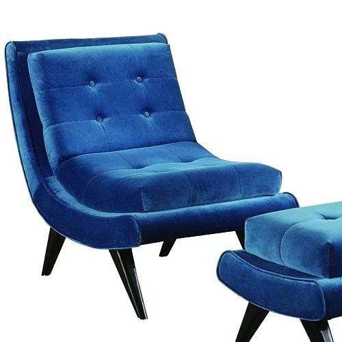 Armen Living Quinto Velvet Lounge Accent Chair
