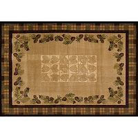 United Weavers MN Natural Contours Fall Pine Cone Rug