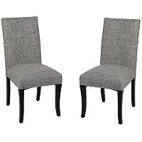 Armen Living Nailhead Dining Chair 2-piece Set
