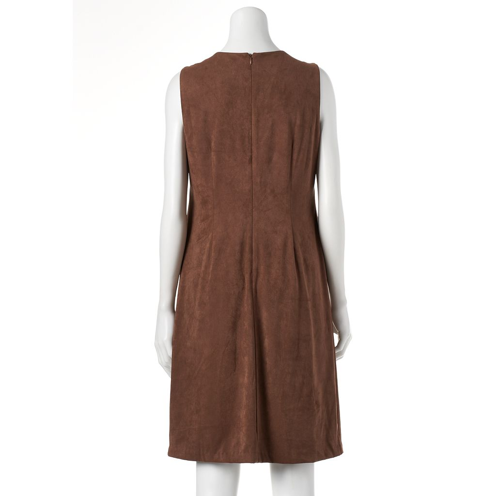 Women's Jessica Howard Faux-Suede Shift Dress