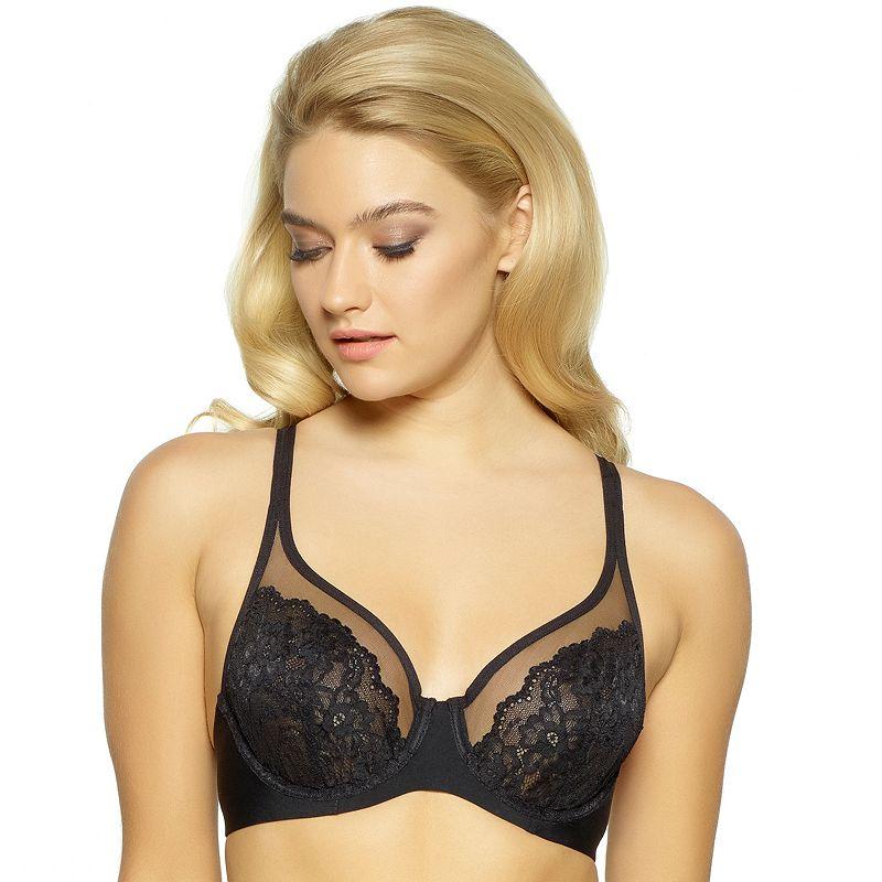 fa06d98b24ba4 Plus Size Apt. 9® Bras  Unlined Full-Figure Lace Tulle Bra (Black)