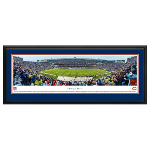 Chicago Bears Football Stadium 50-Yard Line Framed Wall Art