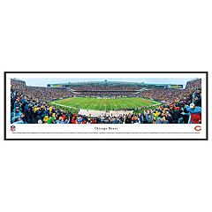 Chicago Bears Football Stadium 50-Yard Line Framed Wall Art