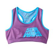 Girls 6-16 Star Wars Reversible Racerback Logo Bra