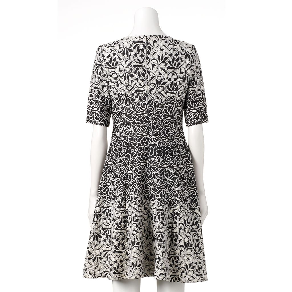 Women's Jessica Howard Embroidered Fit & Flare Dress
