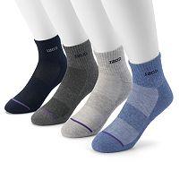 Men's IZOD 4-pack Cushioned Quarter Socks